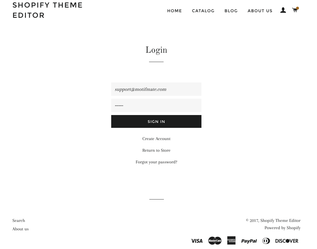 Documentation Motifmate - Shopify template editor